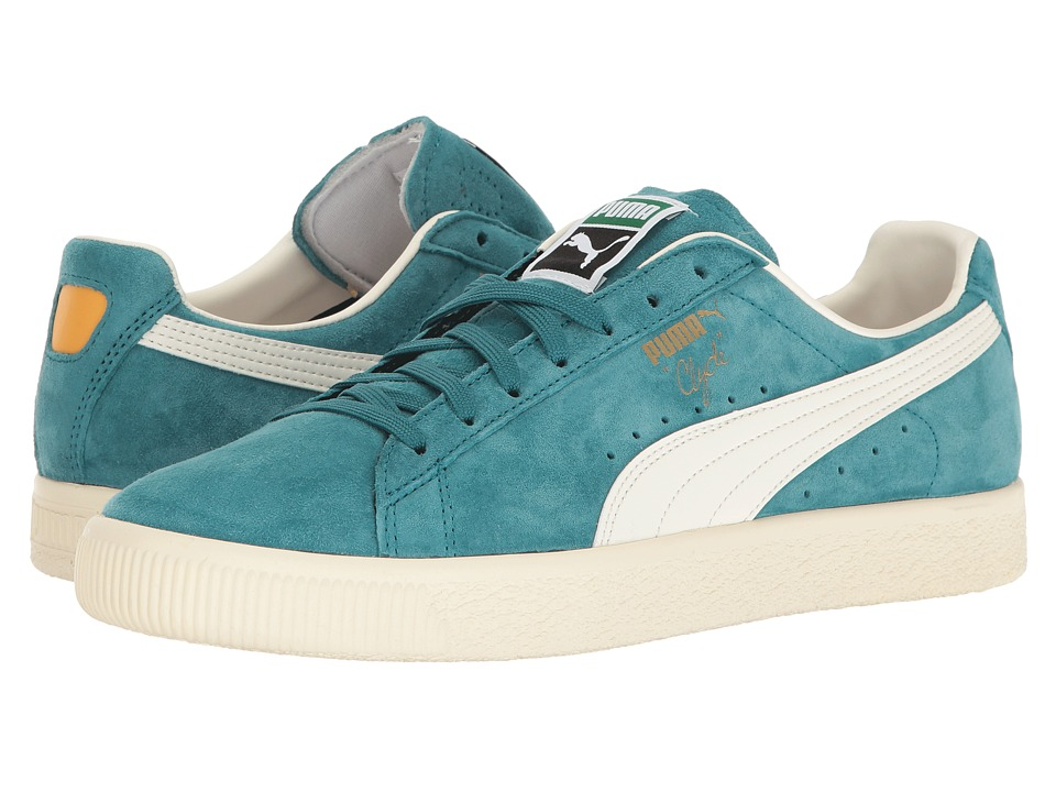 PUMA - Clyde Premium Core (Harbor Blue/Whisper White) Men's Shoes