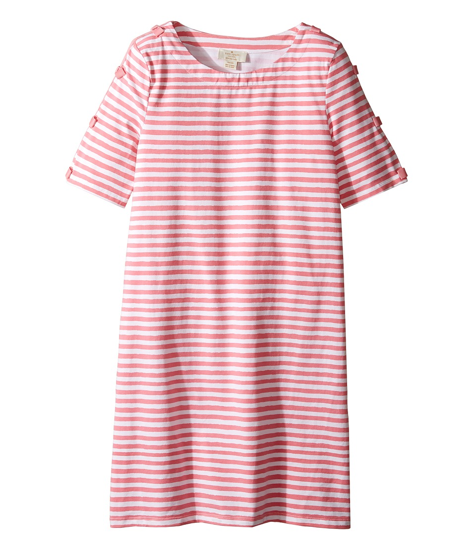 Kate Spade New York Kids - Bow Sleeve Shift Dress (Little Kids/Big Kids) (Berber Pink/Cream) Girl's Dress
