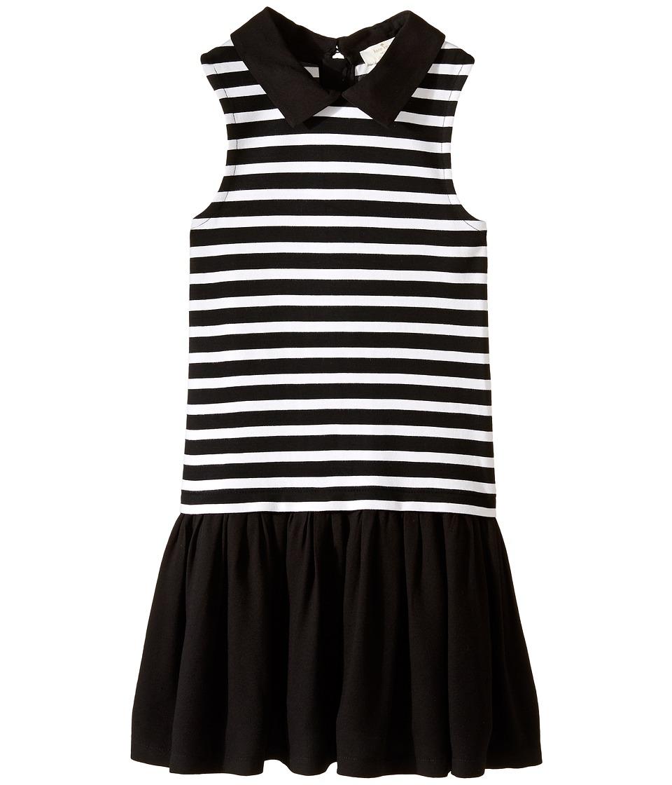 Kate Spade New York Kids - Dropwaist Dress (Little Kids/Big Kids) (Black/Cream Stripe) Girl's Dress