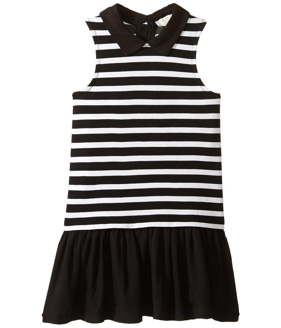 Kate Spade New York Kids - Dropwaist Dress (Toddler/Little Kids) (Black/Cream Stripe) Girl's Dress