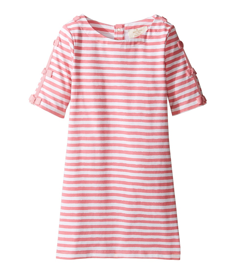 Kate Spade New York Kids - Bow Sleeve Shift Dress (Toddler/Little Kids) (Berber Pink/Cream) Girl's Dress