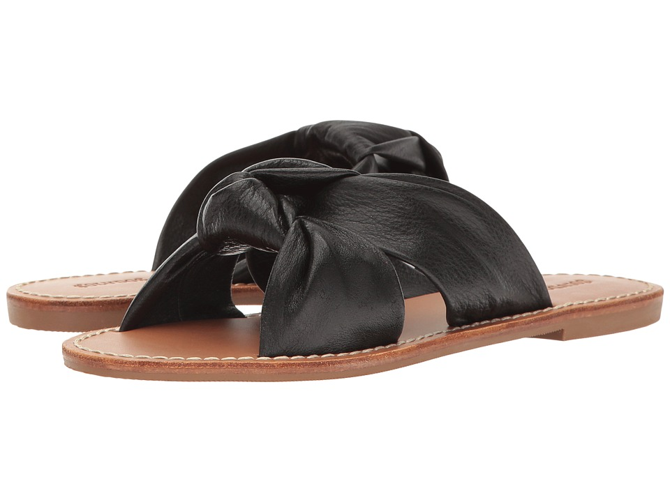 Soludos - Knotted Slide Sandal (Black) Women's Sandals