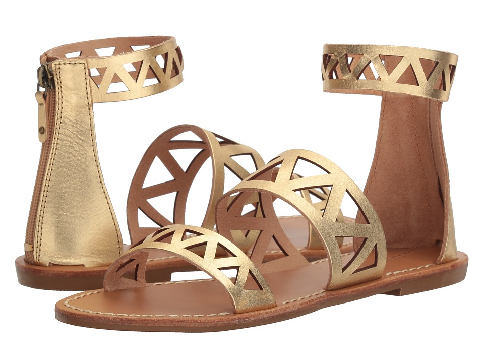 Soludos Geo Laser Cut Band Sandal (Gold) Women