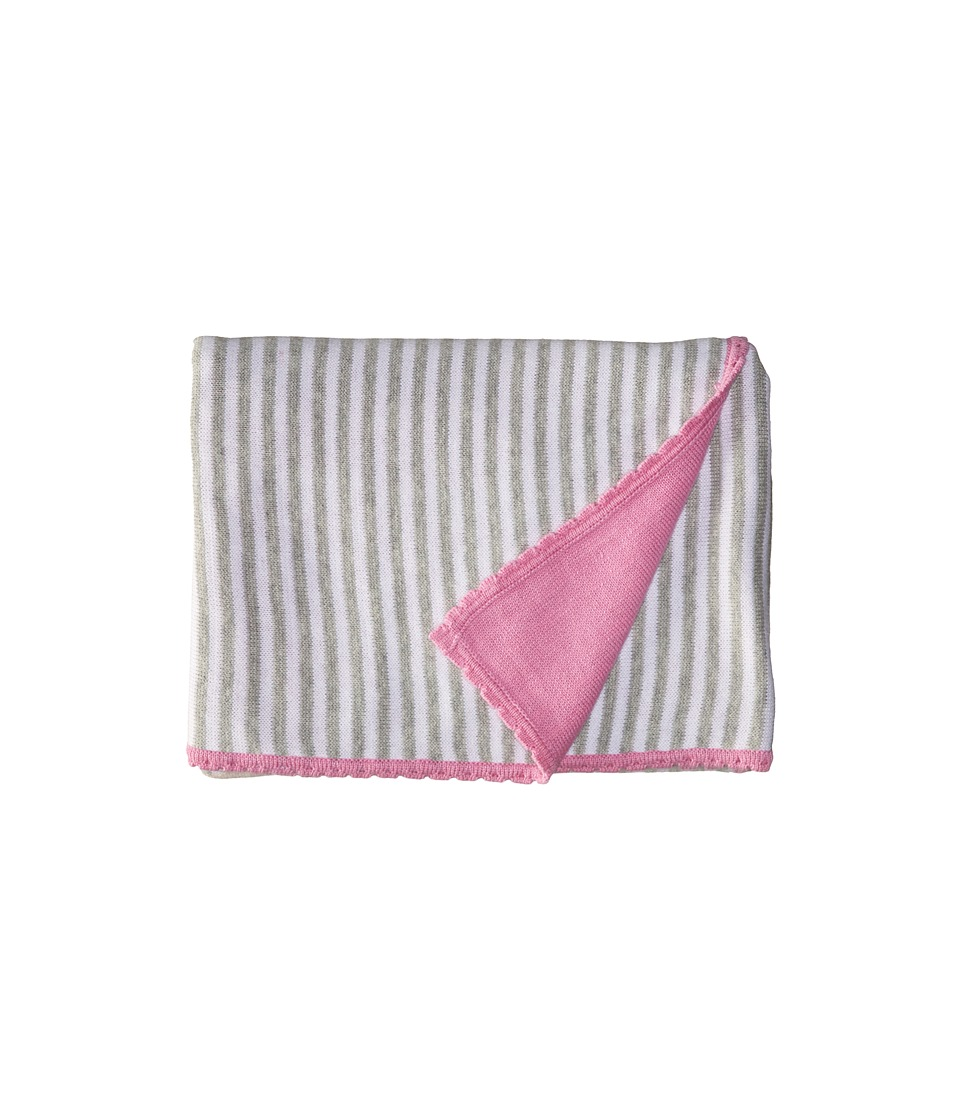 Kate Spade New York Kids - Floral Intarsia Blanket Gift Set (Infant) (Grey Heather) Blankets