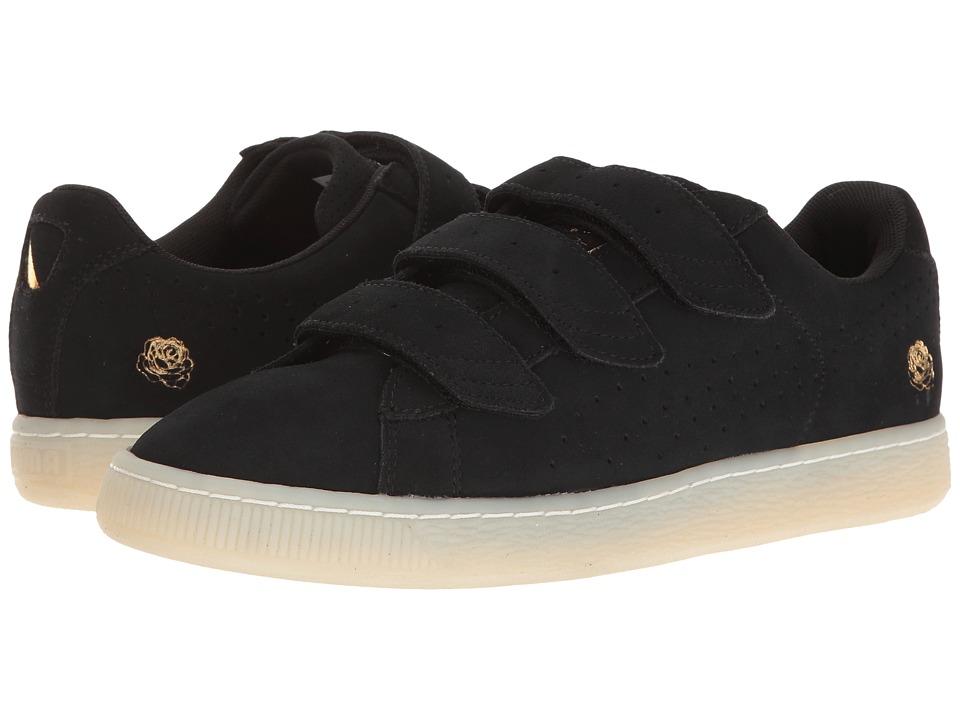 PUMA - Puma X Careaux Basket Strap (Puma Black) Men's Shoes