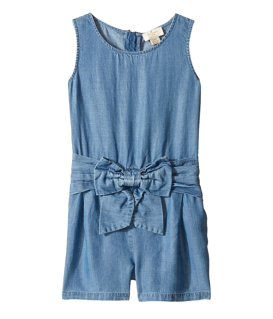 Kate Spade New York Kids - Jillian Romper (Big Kids) (Chambray) Girl's Jumpsuit & Rompers One Piece