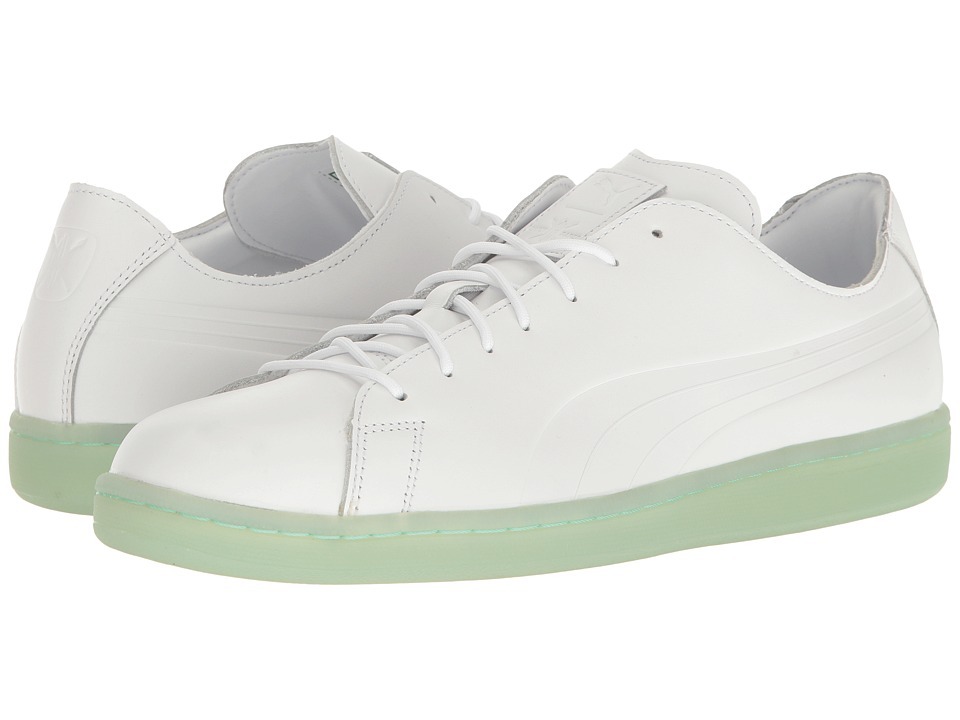 PUMA - Puma X DP Match Raw Edge (Puma White/Gossamer Green) Men's Shoes