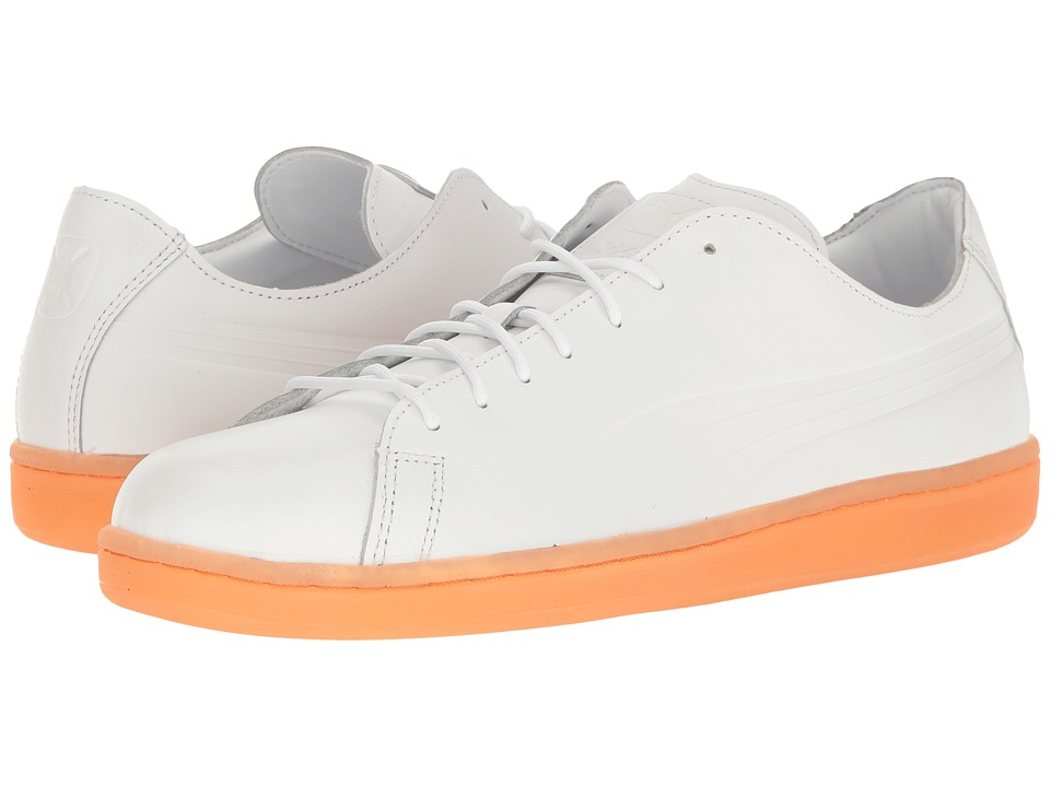 PUMA - Puma X DP Match Raw Edge (Puma White/Puma White/Vibrant Orange) Men's Shoes