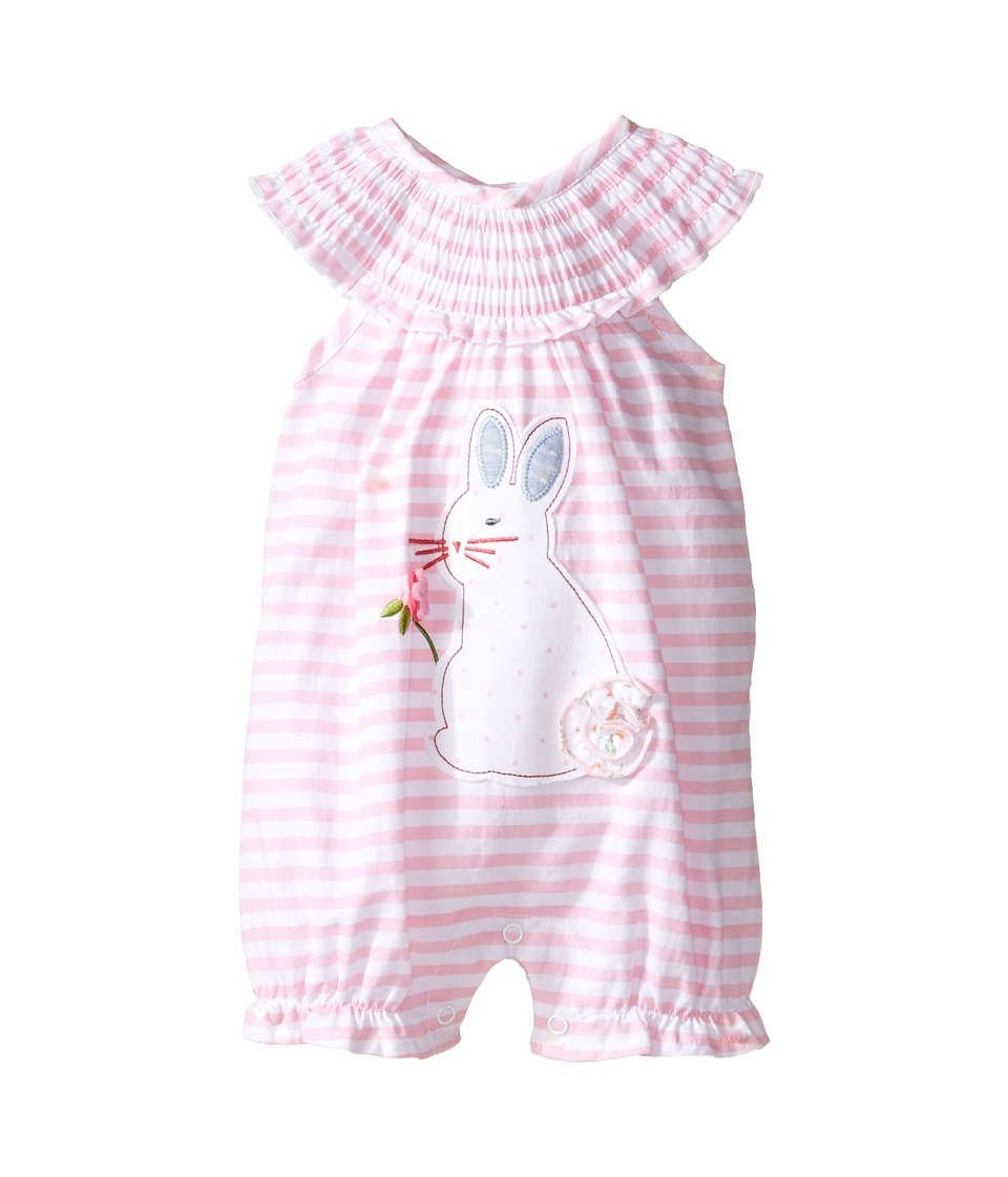 Mud Pie - Bunny Bubble (Infant) (Pink 1) Girl's Jumpsuit & Rompers One Piece