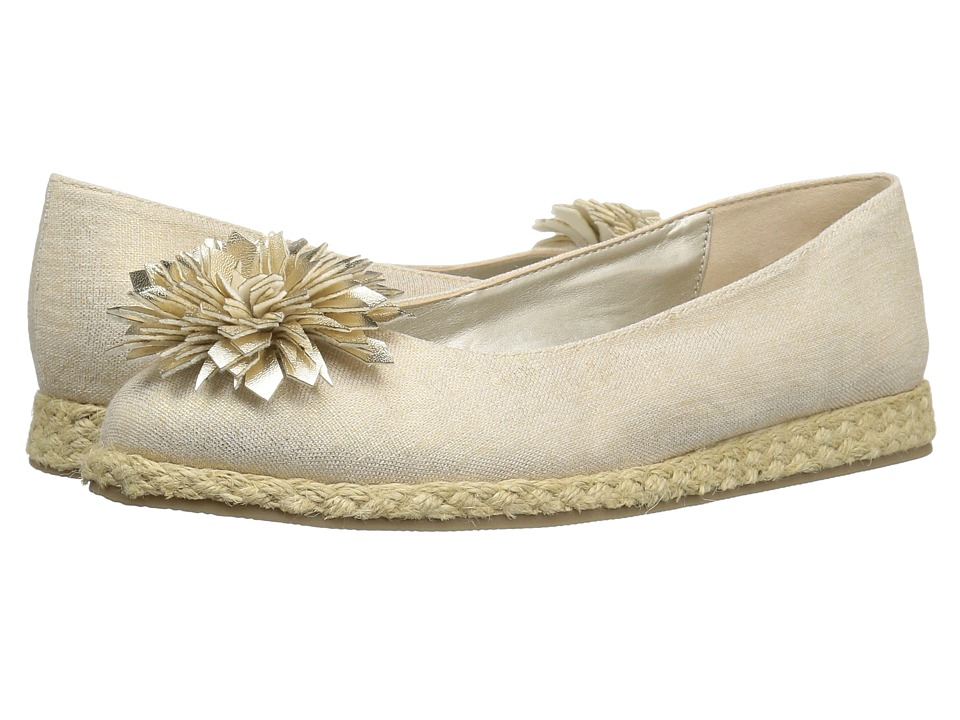 Bandolino Blondelle (Gold Metallic Coated Linen/Metallic Nappa Synthetic) Women