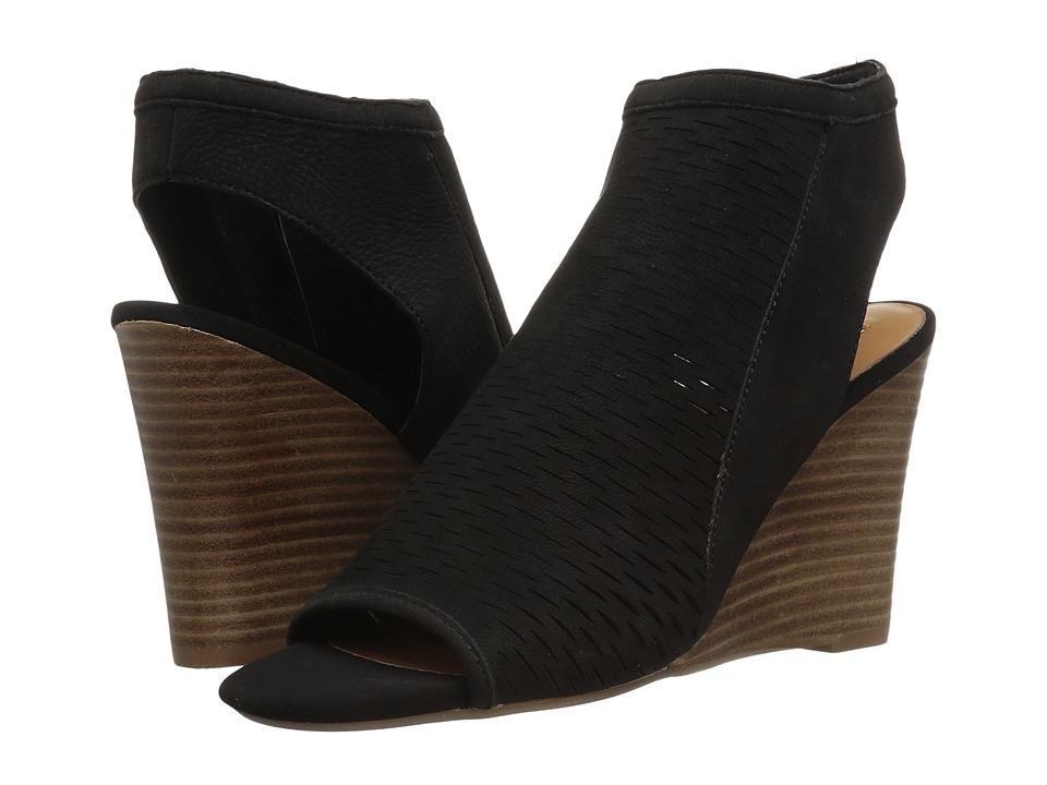 Steve Madden - Winny (Black Nubuck) Women's Wedge Shoes