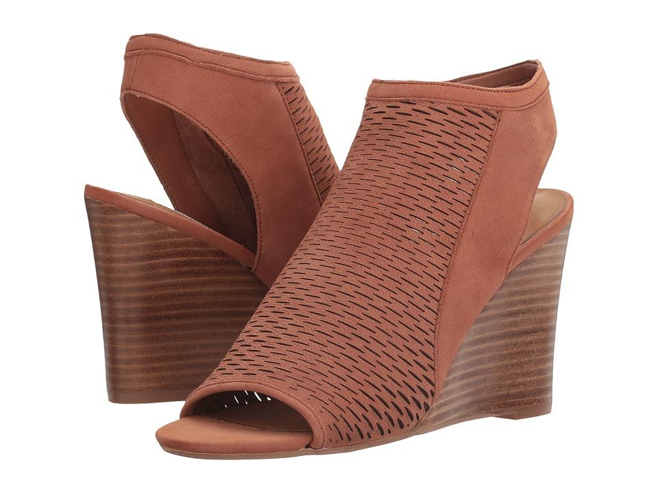 Steve Madden - Winny (Cognac Nubuck) Women's Wedge Shoes