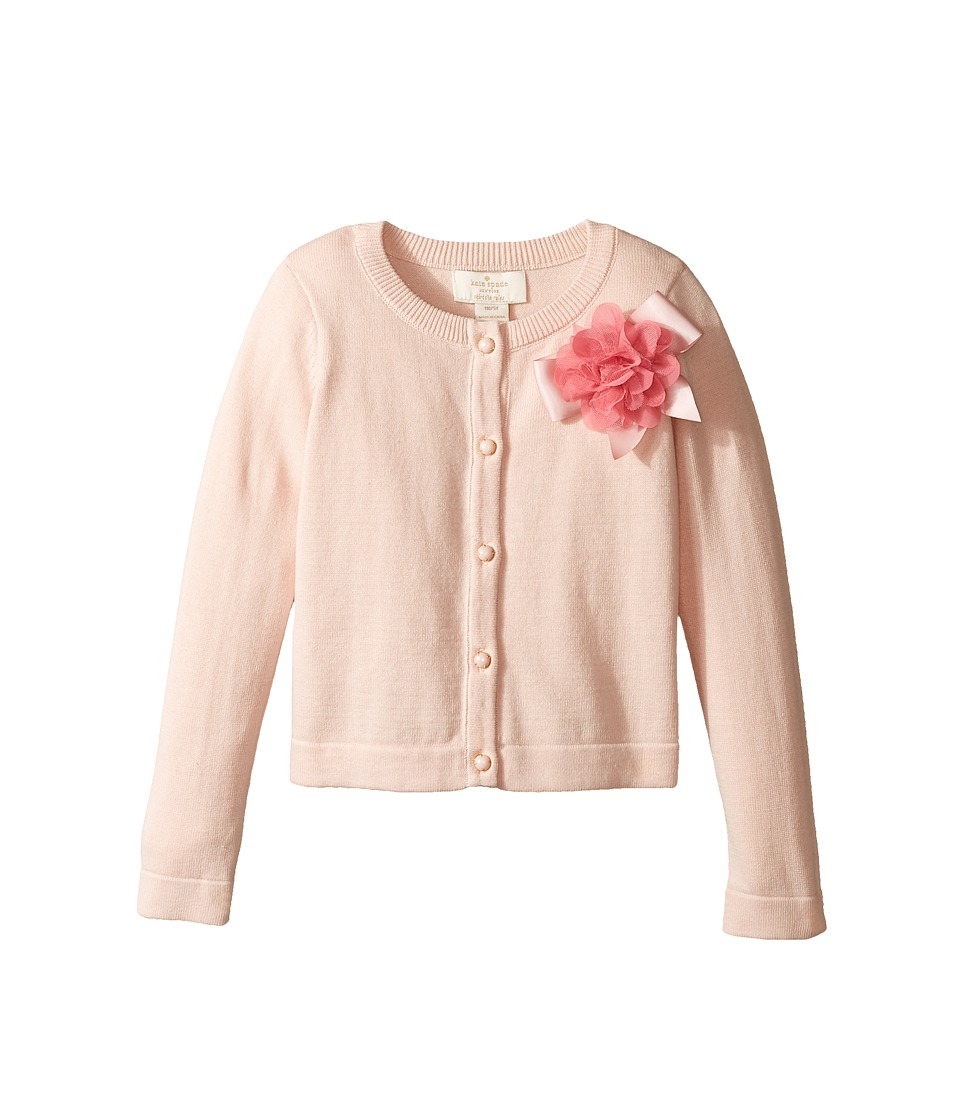 Kate Spade New York Kids - Ribbon Rose Cardigan (Toddler/Little Kids) (Atlas Pink) Girl's Sweater