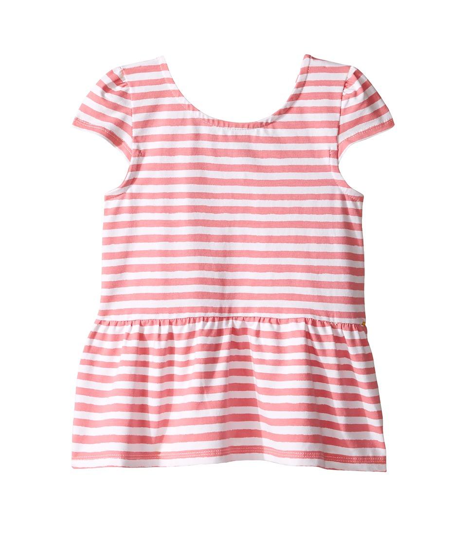 Kate Spade New York Kids - Bow Back Peplum Top (Toddler/Little Kids) (Berber Pink/Cream) Girl's Clothing