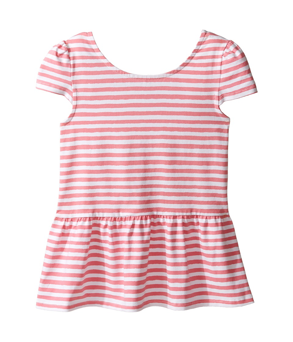 Kate Spade New York Kids - Bow Back Peplum Top (Little Kids/Big Kids) (Berber Pink/Cream) Girl's Clothing