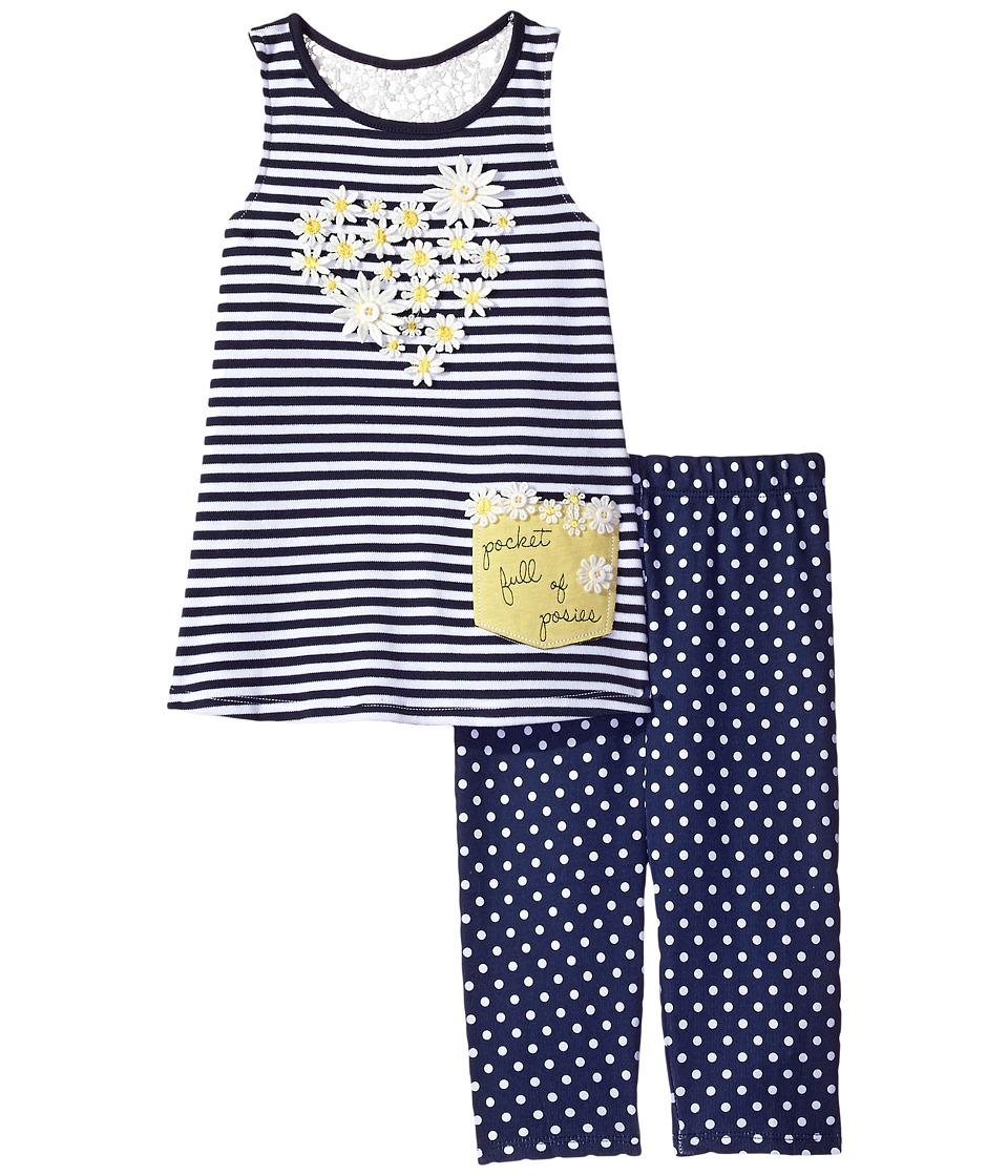 Mud Pie - Daisy Tunic and Leggings Set (Infant/Toddler) (Blue) Girl's Active Sets