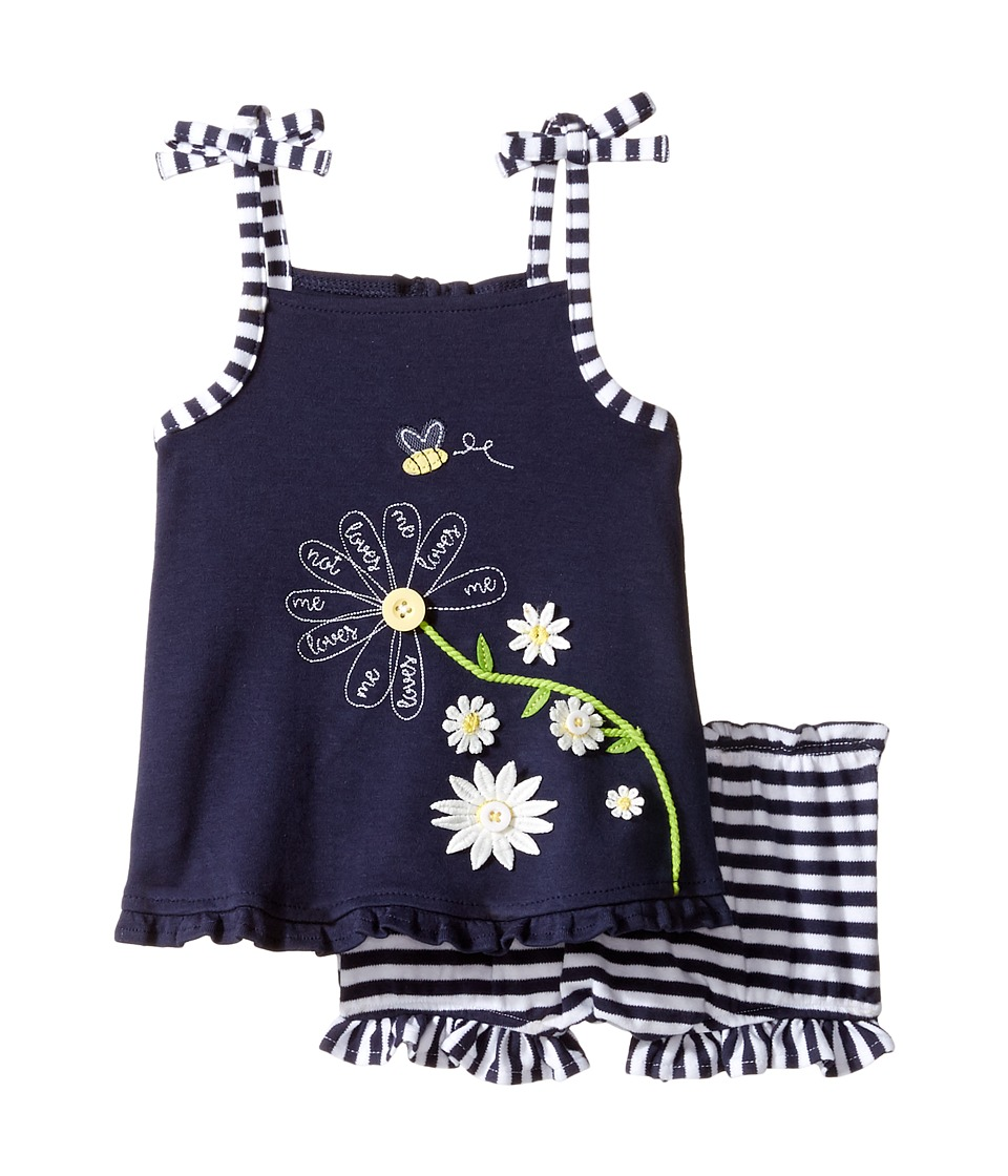Mud Pie - Daisy Tank Top and Bloomers Set (Infant) (Blue) Girl's Active Sets