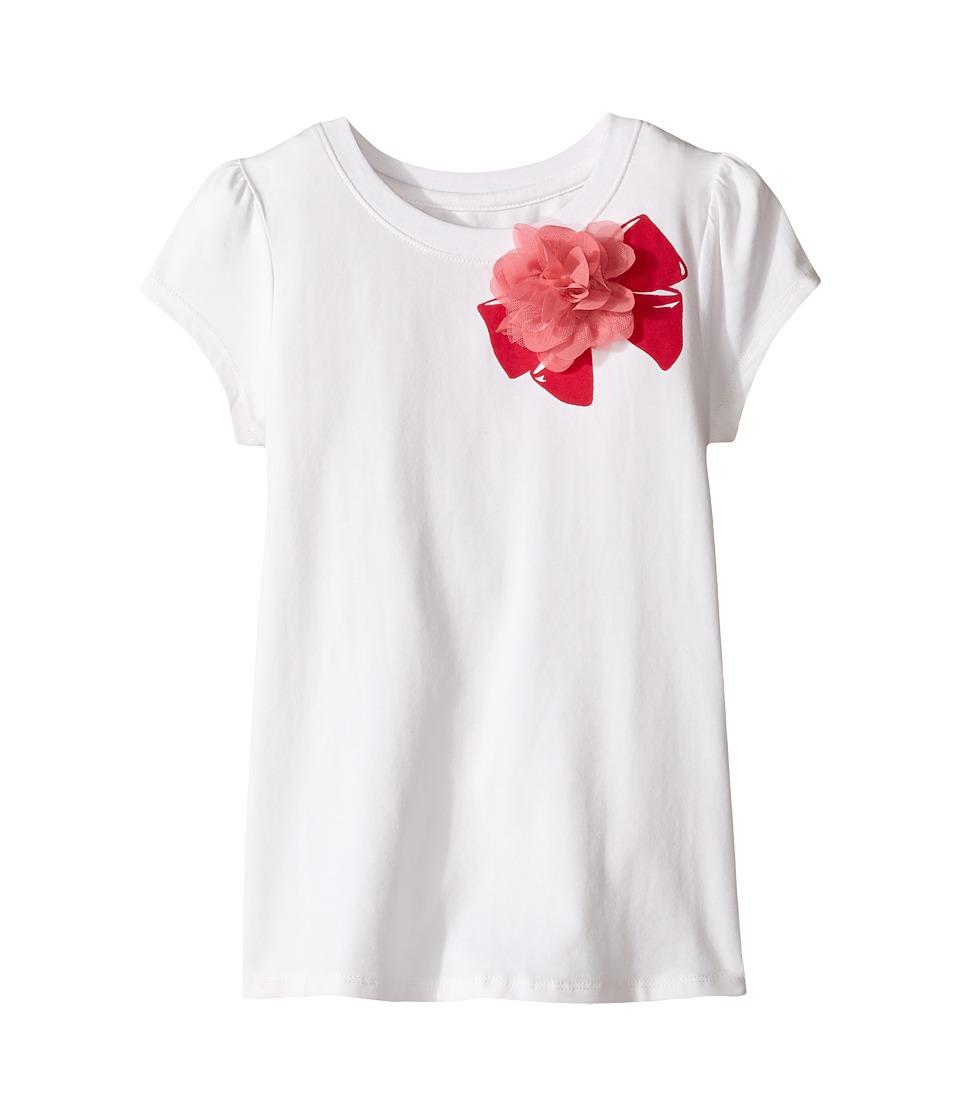 Kate Spade New York Kids - Ruffle Back Tee (Little Kids/Big Kids) (Cream) Girl's T Shirt