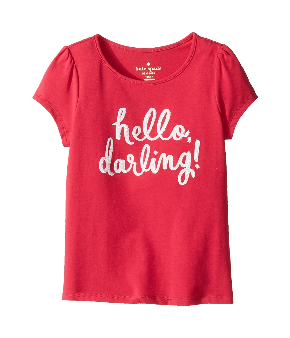 Kate Spade New York Kids - Hello Darling Tee (Toddler/Little Kids) (Tagine Pink) Girl's T Shirt
