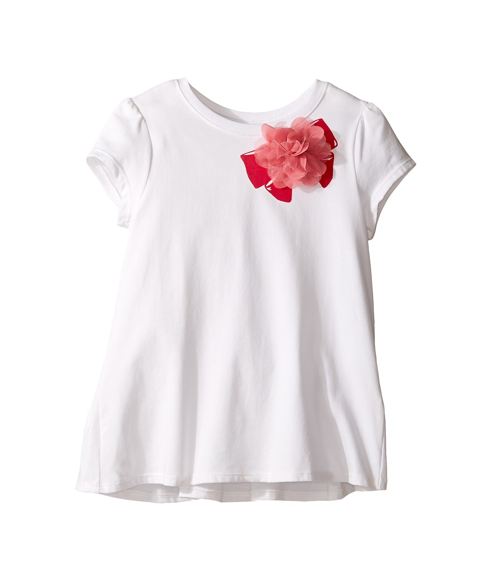 Kate Spade New York Kids - Ruffle Back Tee (Toddler/Little Kids) (Cream) Girl's T Shirt