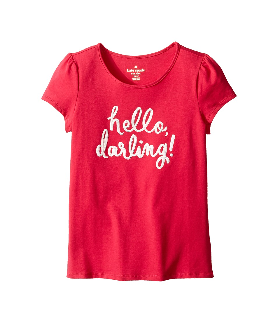 Kate Spade New York Kids - Hello Darling Tee (Little Kids/Big Kids) (Tagine Pink) Girl's T Shirt