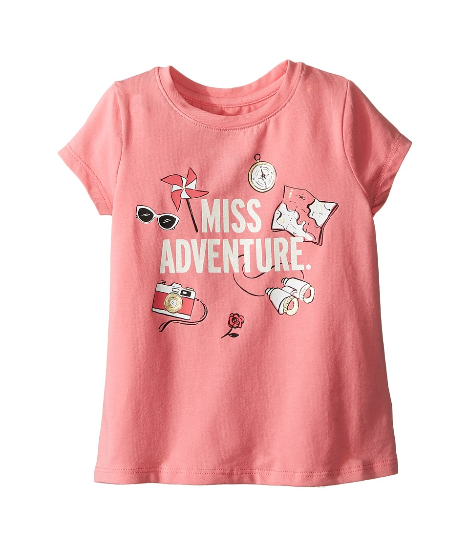 Kate Spade New York Kids - Miss Adventure Tee (Toddler/Little Kids) (Berber Pink) Girl's T Shirt