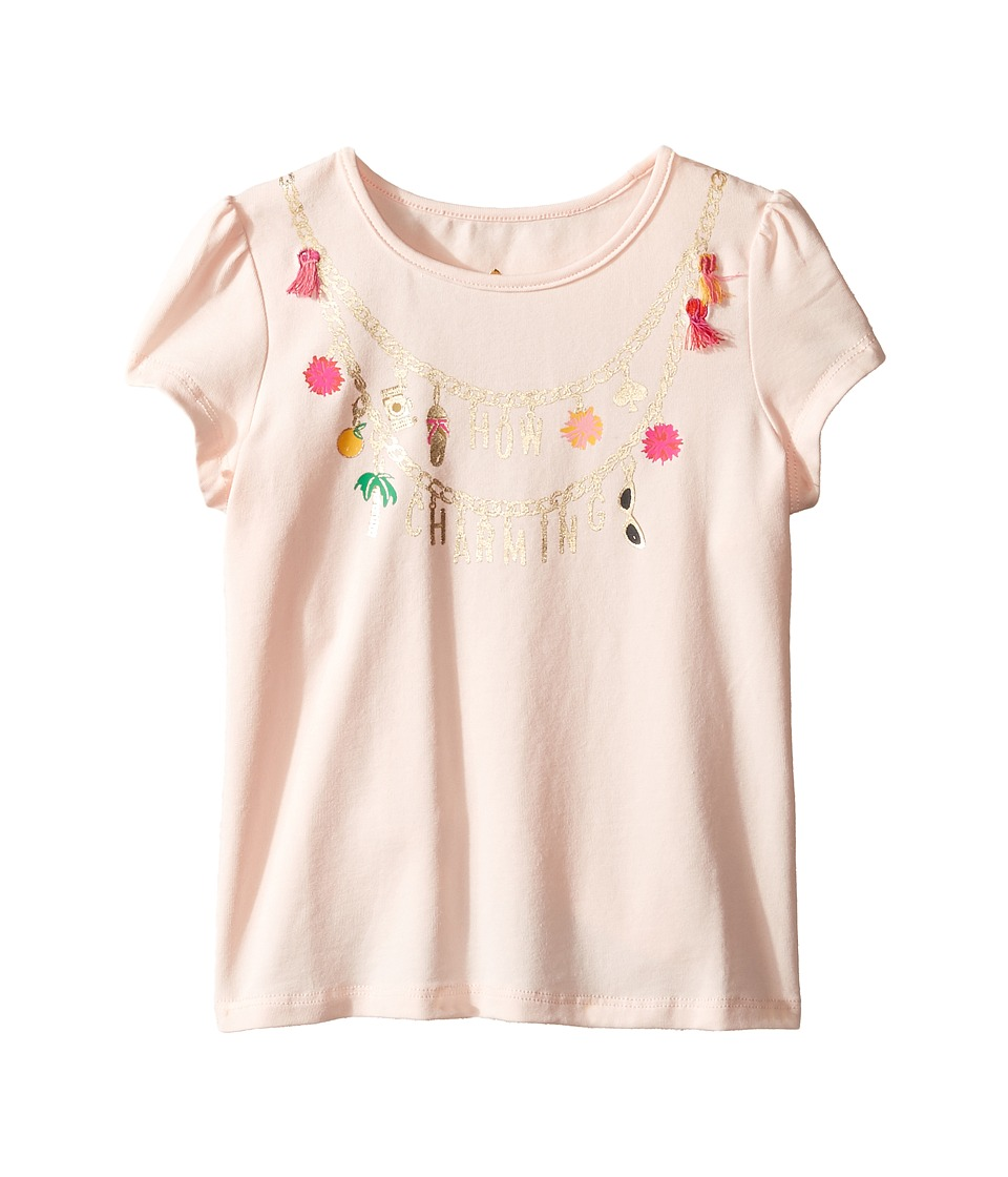 Kate Spade New York Kids - How Charming Tee (Toddler/Little Kids) (Pink Sand) Girl's T Shirt