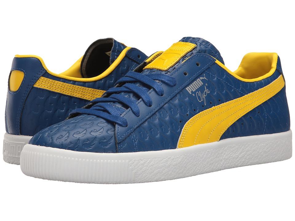 PUMA - Clyde Atlanta FM (True Blue/Dandelion) Men's Shoes