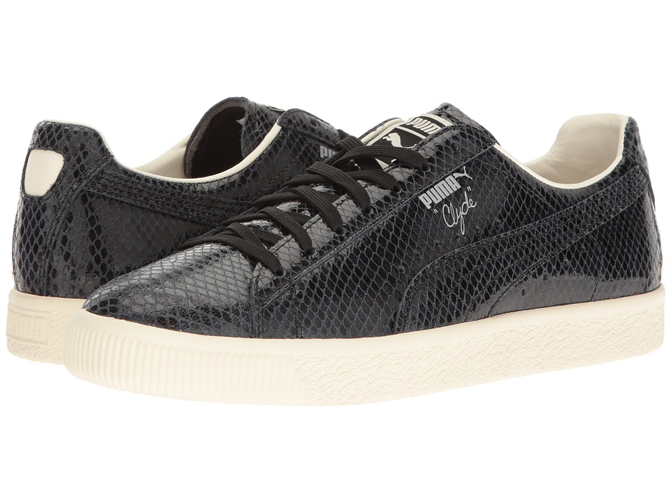 PUMA - Clyde Snake (Puma Black/Whisper White) Men's Shoes