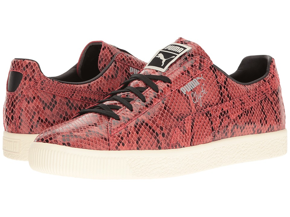 PUMA - Clyde Snake (High Risk Red/Whisper White) Men's Shoes