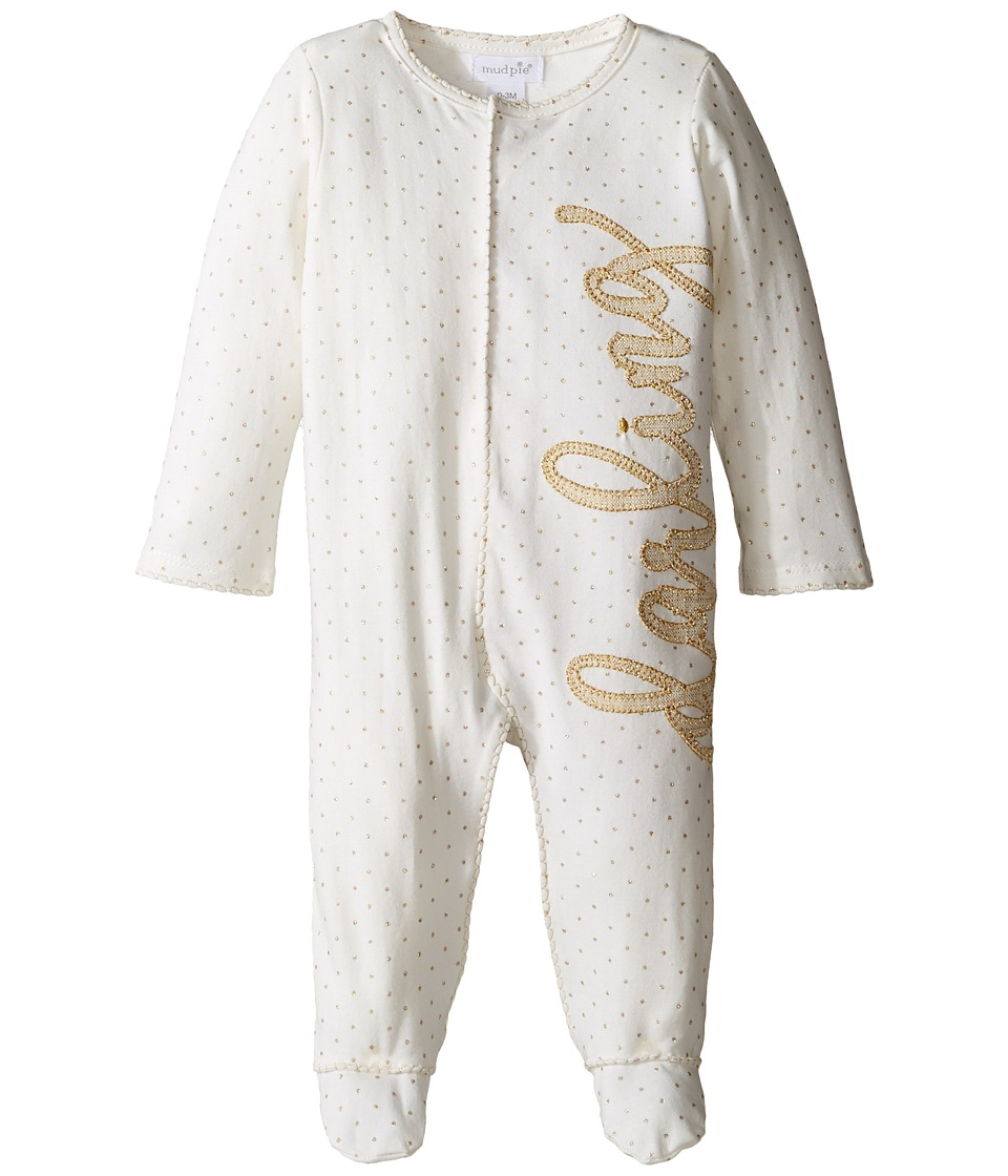 Mud Pie - Darling Footed Sleeper (Infant) (White) Girl's Jumpsuit & Rompers One Piece