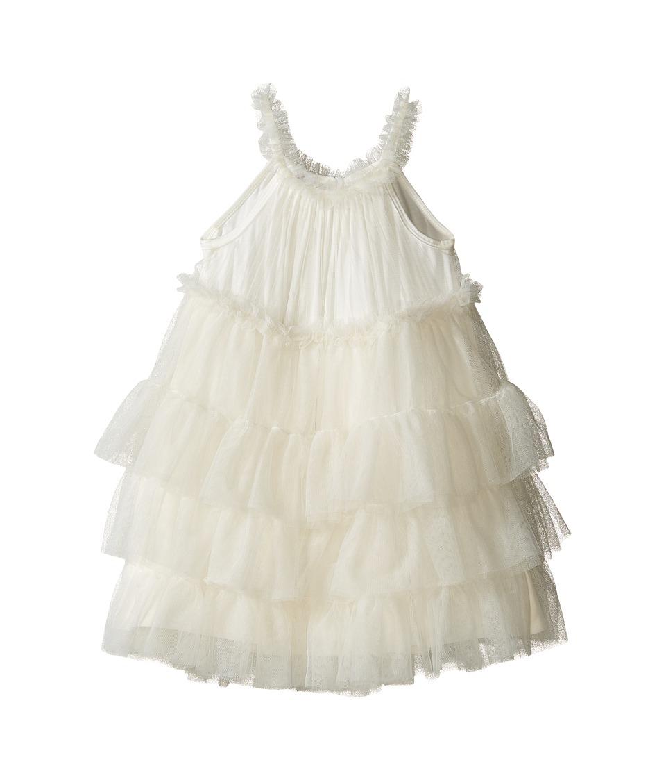 Mud Pie - Ivory Mesh Dress (Toddler) (Cream) Girl's Dress