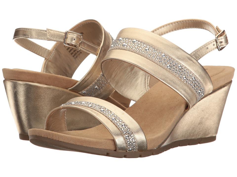 Bandolino - Greedson (Gold Metallic Nappa Synthetic/Twilight) Women's Shoes