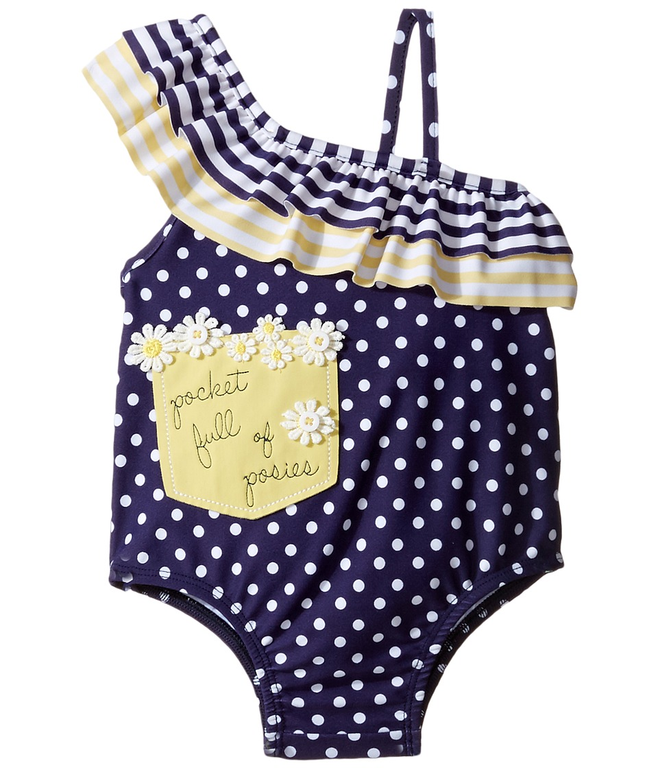 Mud Pie - Daisy Swimsuit (Infant) (Blue) Girl's Swimsuits One Piece