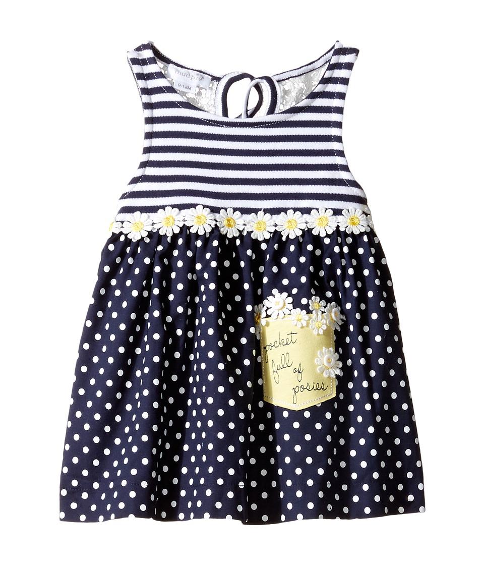 Mud Pie - Crochet Daisy Dress (Infant) (Blue) Girl's Dress