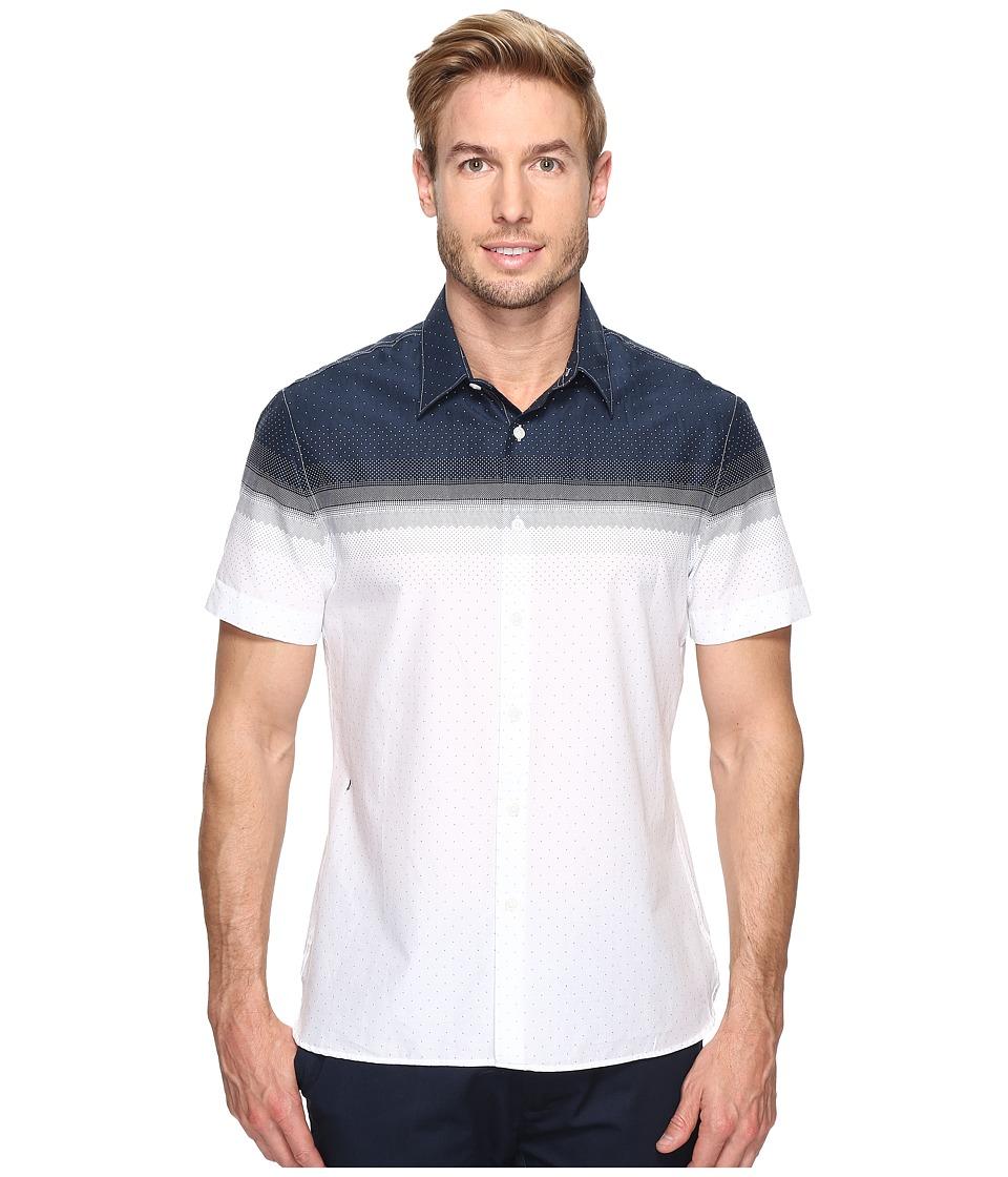 Perry Ellis Engineered Dot Shirt (Bright White) Men