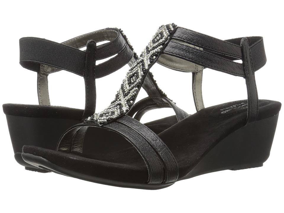 Bandolino - Hippo (Black Metal Sardine/Sleek Elastic) Women's Shoes