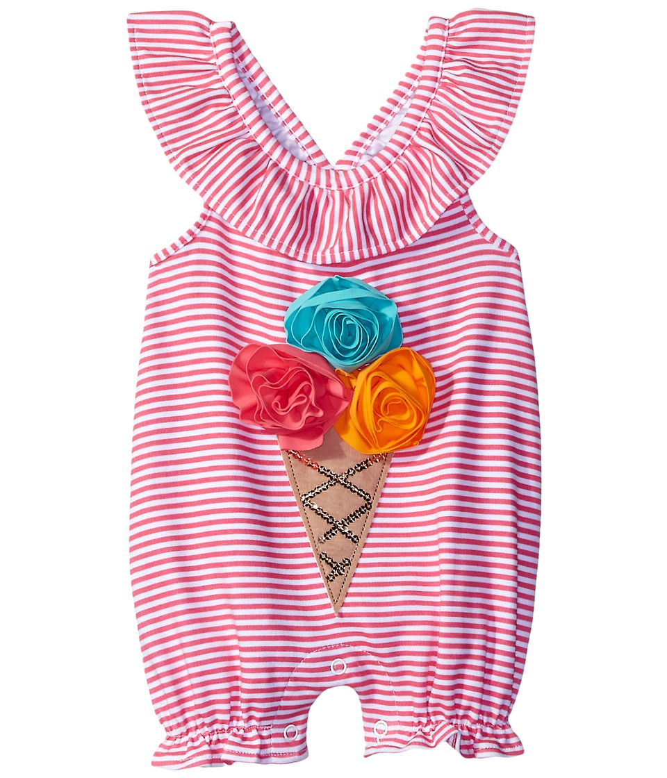 Mud Pie - Ice Cream Crawler (Infant) (Pink) Girl's Jumpsuit & Rompers One Piece