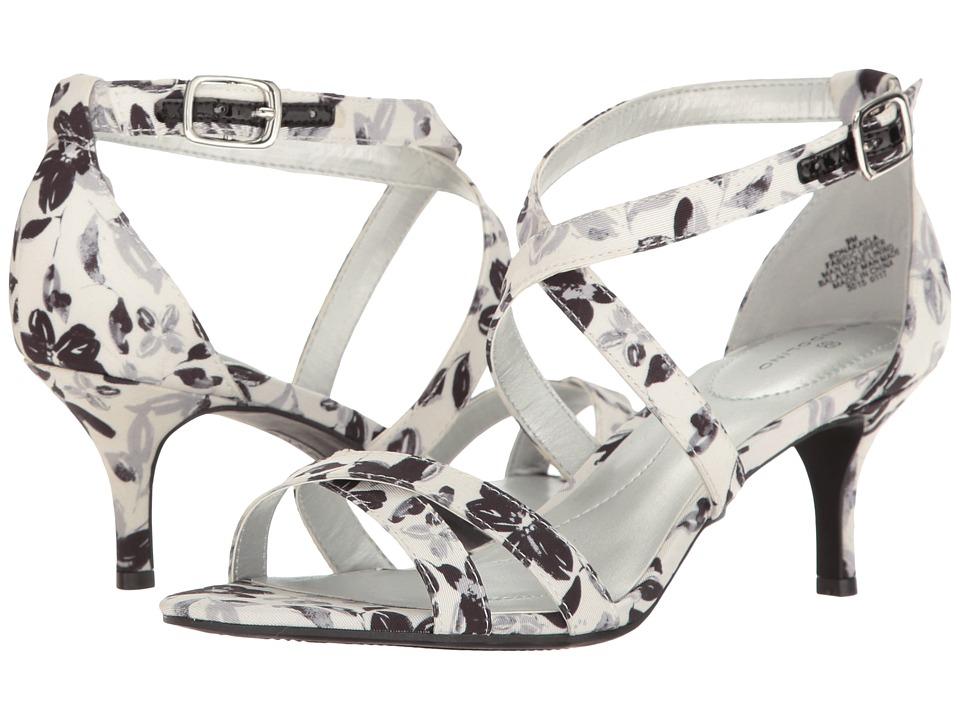 Bandolino - Nakayla (Black Multi Painted Peony Faille) Women's Shoes