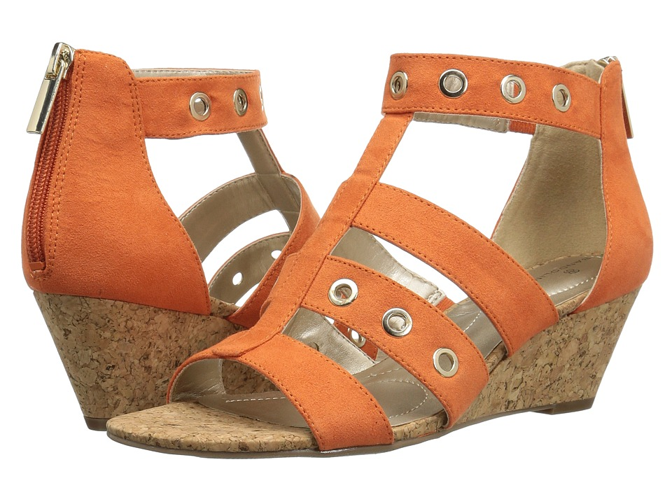 Bandolino - Olegga (Sunset Orange Faux Suede) Women's Shoes