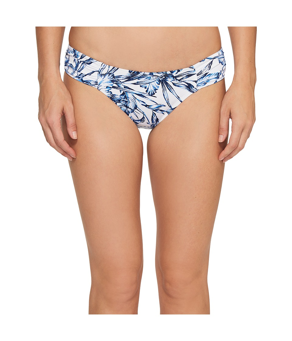 Tommy Bahama - Sketchbook Blossoms Side-Shirred Hipster Bikini Bottom (Mare Navy) Women's Swimwear