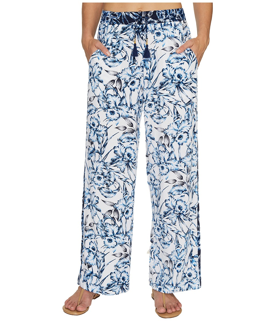 Tommy Bahama - Sketchbook Blossoms Beach Pant Cover-Up (Mare Navy) Women's Swimwear