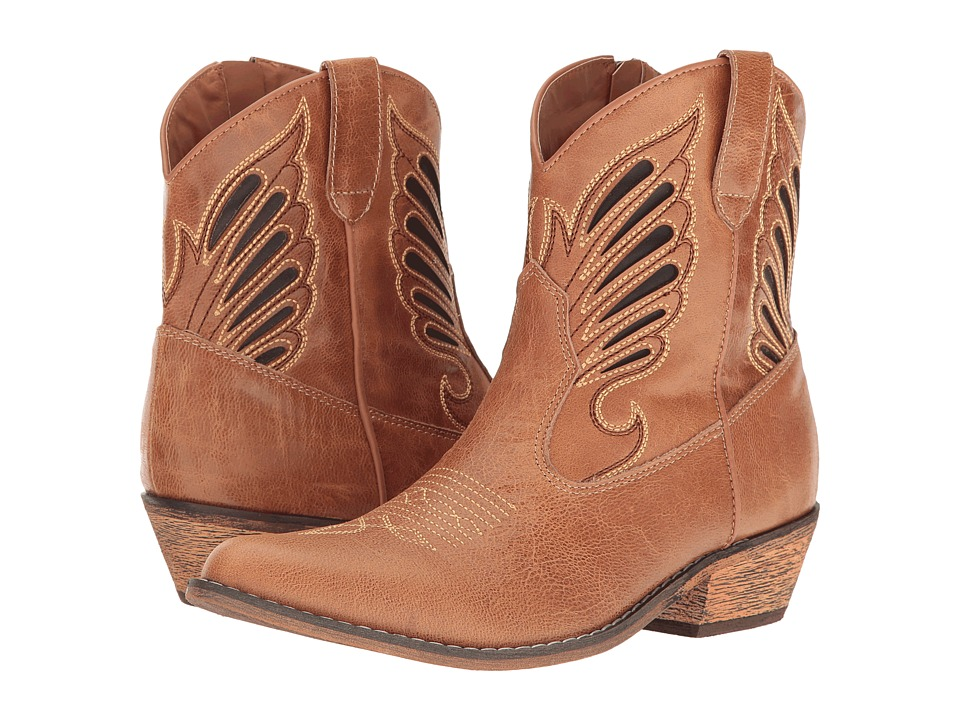 Dingo Flat Bush (Tan) Cowboy Boots