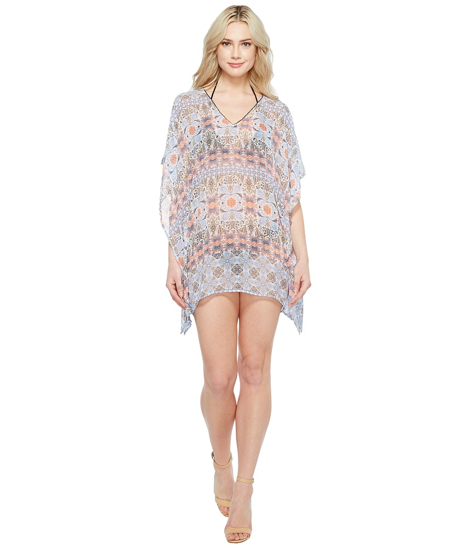 Tommy Bahama - Tile Terrace V-Neck Tunic Cover-Up (White) Women's Swimwear