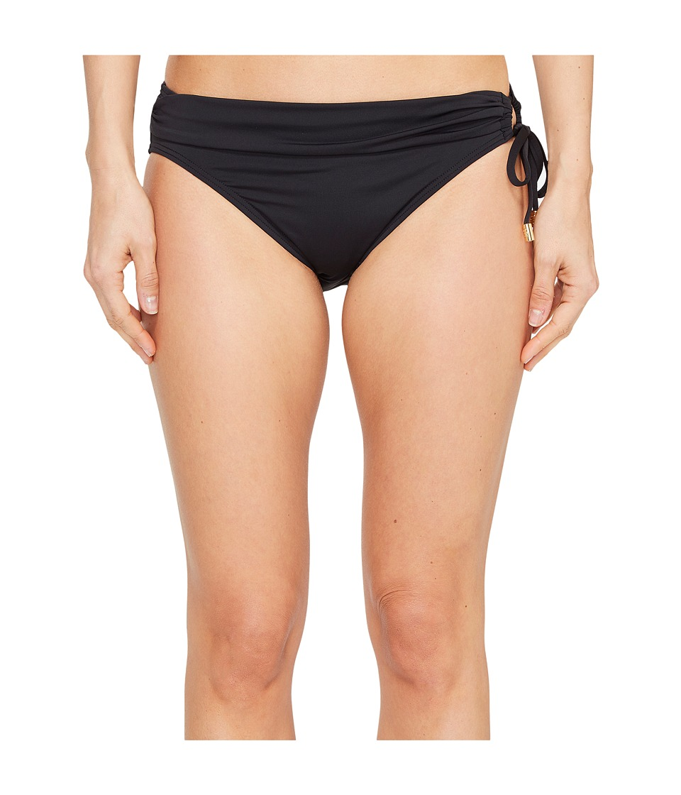 Tommy Bahama Pearl Hipster Bikini Bottom with Ring (Black) Women