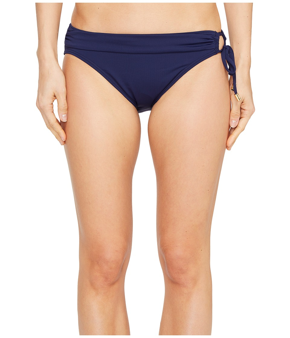 Tommy Bahama Pearl Hipster Bikini Bottom with Ring (Mare Navy) Women