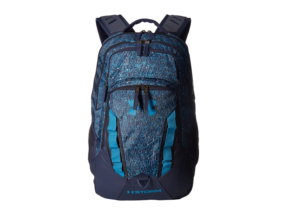 Under Armour UA Recruit Backpack (Midnight Navy/Bayou Blue/Bayou Blue) Backpack Bags