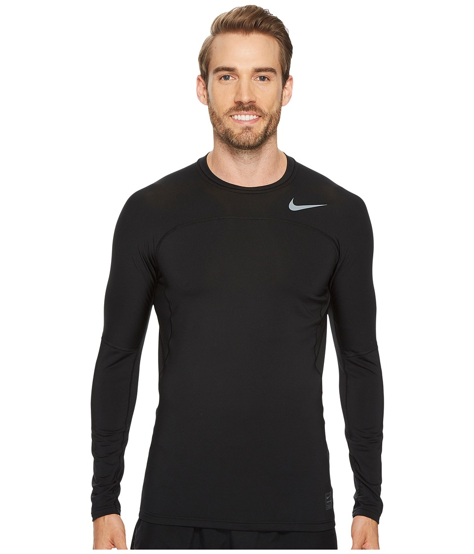 Nike Pro Hyperwarm Long Sleeve Top (Black/Cool Grey/Cool Grey) Men