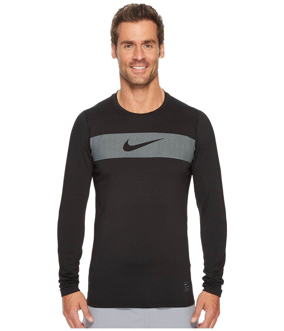 Nike Pro Warm Long Sleeve Training Top (Black/Cool Grey/White) Men