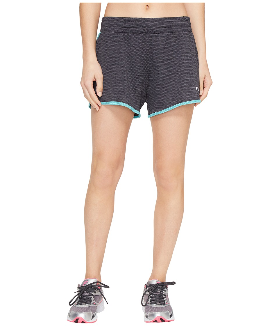 Fila Easy On Shorts (Black Heather/Viridian Green Heather) Women